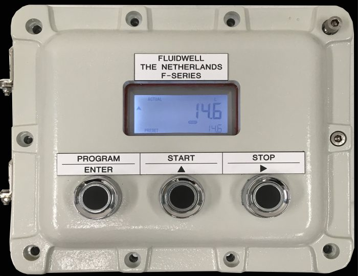 Explosion proof box for Fluidwell displays and controllers