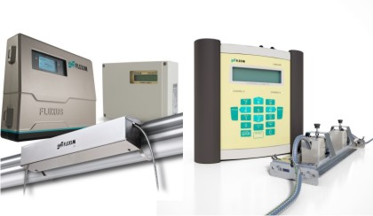 Flexim flow meters permanent and portable
